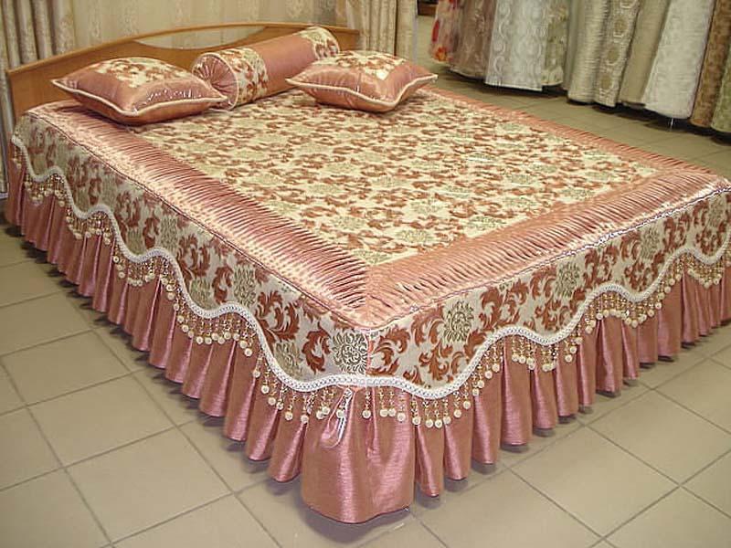 Дизайн покрывала для спальни фото
